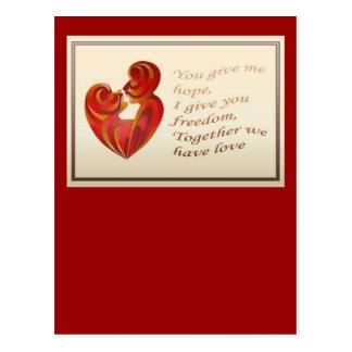 Together We Have Love Postcard