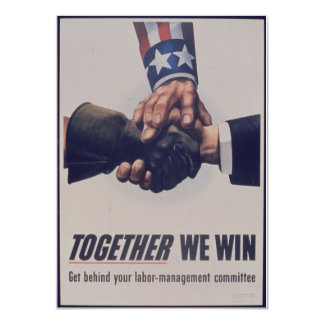 Together we win card