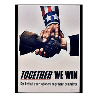 Together We Win Postcard