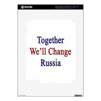 Together We'll Change Russia iPad 3 Skins