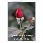 Together with loving grandparents greeting card