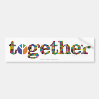 together (with Peace Company logo) Bumper Sticker