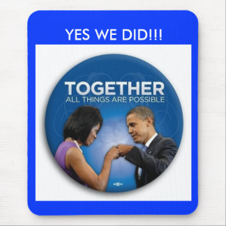 together - yes we did! - Customized Mouse Pads