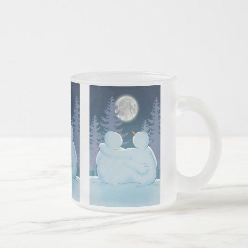 Togetherness 10 Oz Frosted Glass Coffee Mug