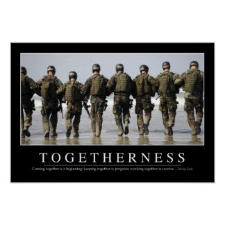 Togetherness: Inspirational Quote Poster