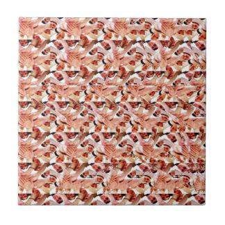 Togetherness stereogram ceramic tile