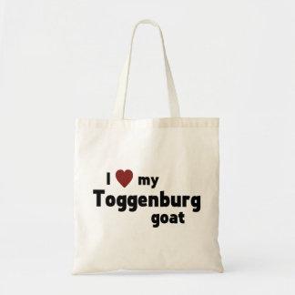 Toggenburg goat budget tote bag