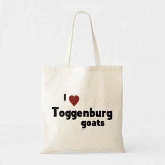 Toggenburg goats budget tote bag