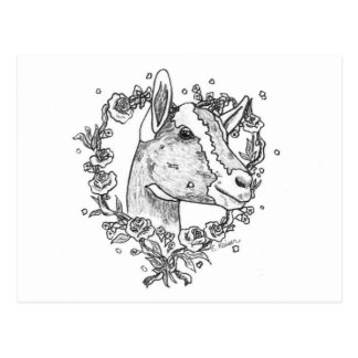 Toggenburg Head in Heart Postcard