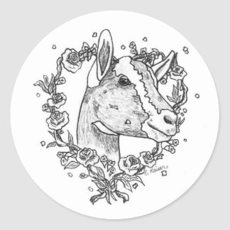 Toggenburg Head in Heart Stickers
