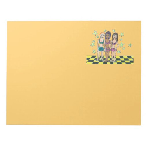 Toggle Girls Notepad