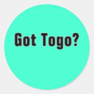 Togo 'Africa' (Got Togo) T-Shirt and etc Classic Round Sticker