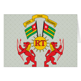 Togo Coat of Arms detail Greeting Card