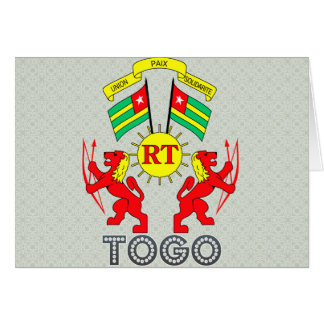Togo Coat of Arms Greeting Card