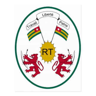 Togo Coat of Arms Postcard