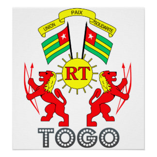 Togo Coat of Arms Poster