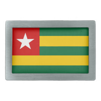 togo country flag belt buckle