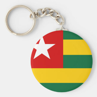 togo country flag nation symbol basic round button keychain