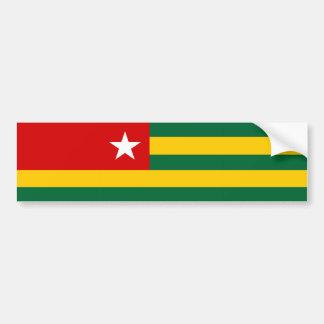 togo country flag nation symbol bumper sticker