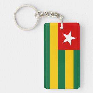 togo country flag nation symbol Single-Sided rectangular acrylic keychain