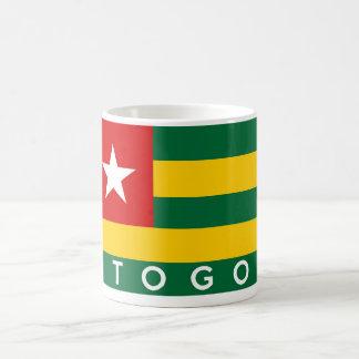 togo country flag symbol name text classic white coffee mug