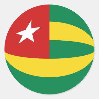Togo Fisheye Flag Sticker