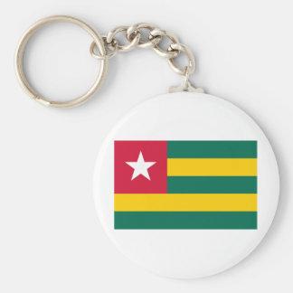 Togo Flag Basic Round Button Keychain