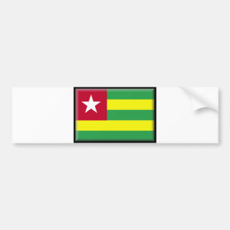 Togo Flag Bumper Sticker