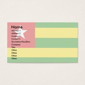Togo Flag Business Card
