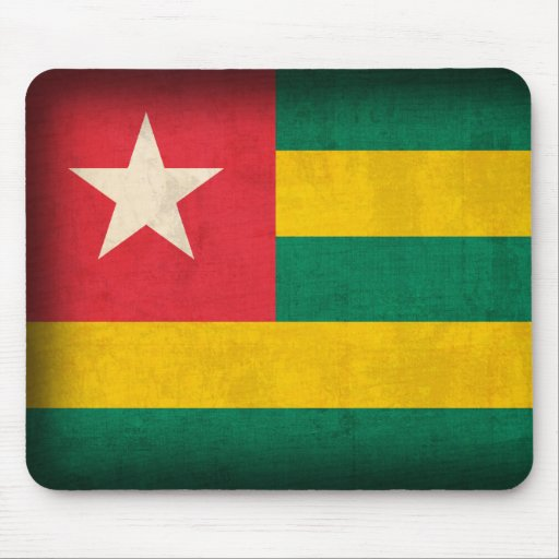 Togo Flag Distressed Mousepad