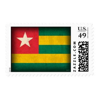 Togo Flag Distressed Postage Stamps