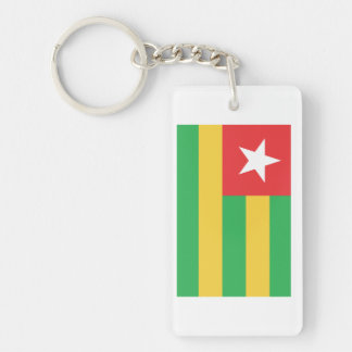 Togo Flag Double-Sided Rectangular Acrylic Keychain
