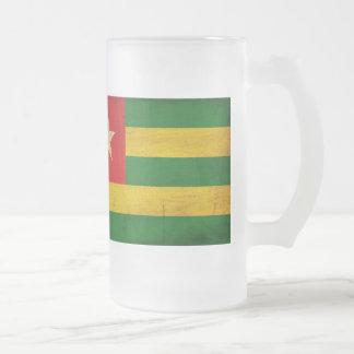 Togo Flag Frosted Glass Beer Mug