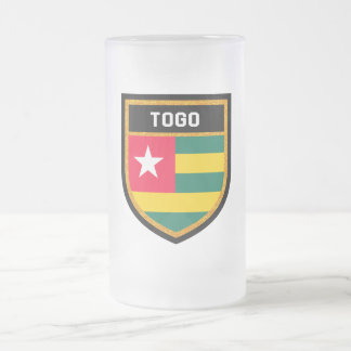 Togo Flag Frosted Glass Beer Mug