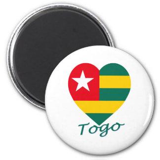 Togo Flag Heart Fridge Magnets