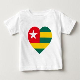 Togo Flag Heart Shirts