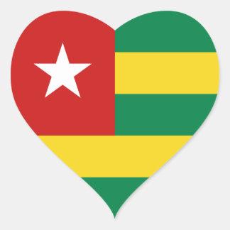 Togo Flag Heart Sticker