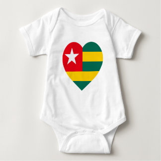 Togo Flag Heart T-shirts