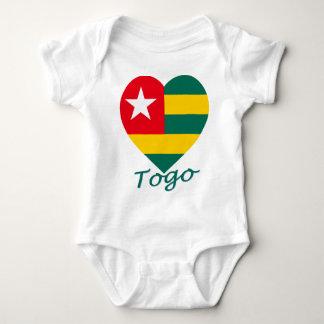 Togo Flag Heart Tees