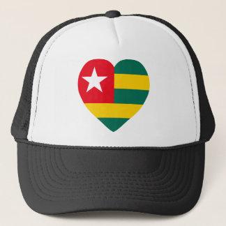 Togo Flag Heart Trucker Hat