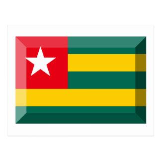 Togo Flag Jewel Postcard
