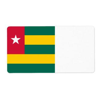 Togo Flag Label