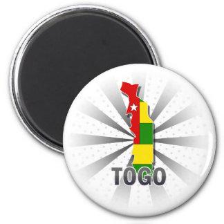 Togo Flag Map 2.0 Magnets
