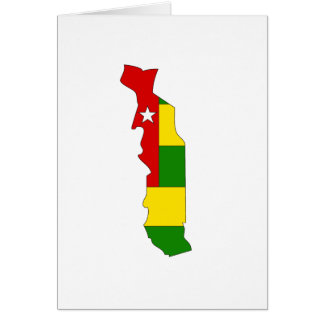 Togo flag map card