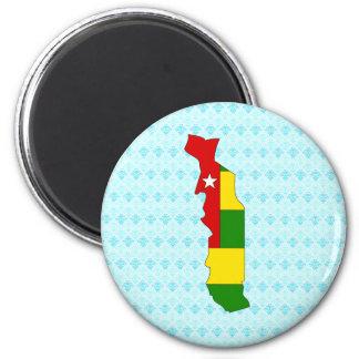 Togo Flag Map full size Magnets