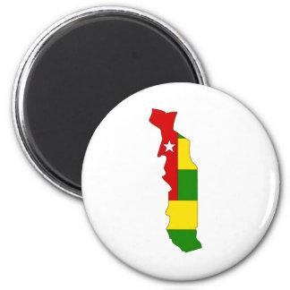 Togo Flag Map full size Refrigerator Magnet