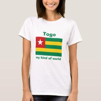 Togo Flag + Map + Text T-Shirt
