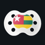 """Togo flag pacifier<br><div class=""""desc"""">Togo flag</div>"""