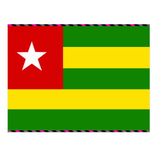 Togo Flag Post Card