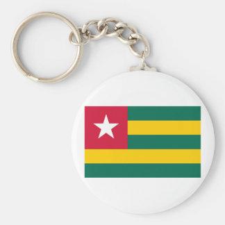 Togo Flag Products Basic Round Button Keychain